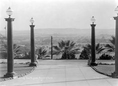 Circa 1905 view looking south over the San Gabriel Valley from the portico of the Raymond Hotel. Courtesy of the California Historical Society Collection, USC Libraries.