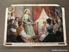 ANTIGUA ESTAMPA RELIGIOSA SANTA MARÍA MICAELA DEL SANTÍSIMO SACRAMENTO (Postales - Postales Temáticas - Religiosas y Recordatorios) Baseball Cards, Saints, Poor Children, Santa Maria, Antigua