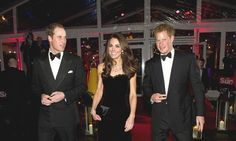 Kate Middleton, Prince William and Prince Harry at the 'Spectre' premiere: