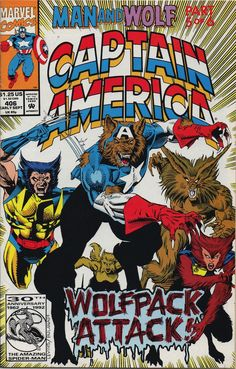 Captain America 406 A, Sep 1992 Comic Book by Marvel Captain America Comic Books, Marvel Captain America, Marvel Comic Books, Marvel Characters, Comic Books Art, Comic Art, Book Art, Marvel Art, Marvel Heroes