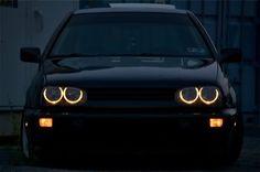 VW MK3 Golf angel eyes headlights. Fancy LED white ones? Click the pic ;)