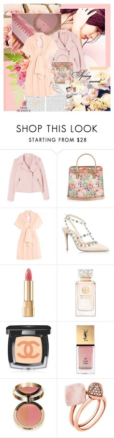 """Macaroons and Roses (Thank You)"" by rainie-minnie ❤ liked on Polyvore featuring Rebecca Taylor, Delpozo, Valentino, Dolce&Gabbana, MML, Tory Burch, Chanel, Yves Saint Laurent, Ciaté and Michael Kors"