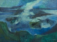 Tony Scornavacca, (American, 1926-1986), Blue Seascape, 1957