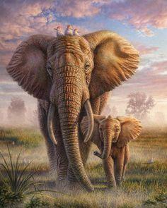 Elephant Family, Elephant Love, Bull Elephant, Elephant Gifts, Image Elephant, Elephant Images, Elephant Canvas, Elephant Paintings, Elephant Poster