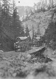 Traveling between Orderville and Cedar City: the old canyon road
