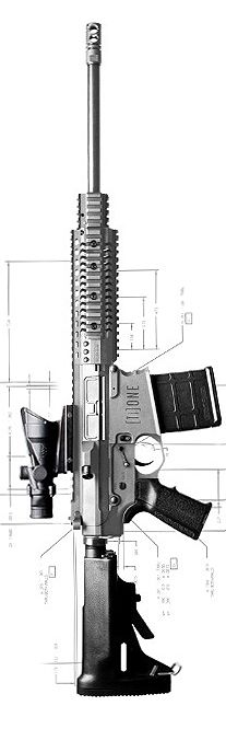 NEMO Arms titanium AR-10 chambered in .308 Winchester.