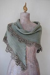 knitted shawl with crochet edging, Sedna's Shawl