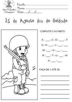 Atividades Dia do Soldado Desenhos  Colorir Imprimir