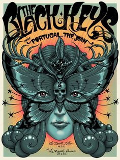 Black Keys Poster for Lillie and Paris shows by Jeff Soto