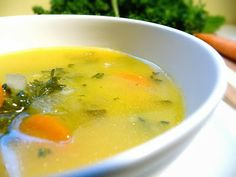 Vegetarian Soup for the Soul      Ingredients:  1 sweet dumpling squash, baked*  1/2 sweet onion, diced  2 carrots, chopped  2 celery stalks, chopped  1 garlic clove, minced  piece of fresh ginger about an inch thick, zested or grated  1/2 cup fresh parsley, chopped  1 Tbsp. olive oil  Sea salt to taste