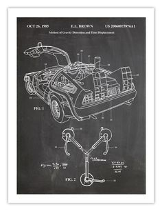 The Future Movie, Back To The Future, Delorean Time Machine, Future Wallpaper, Bttf, Aliens And Ufos, Patent Prints, Cultura Pop, Cool Posters