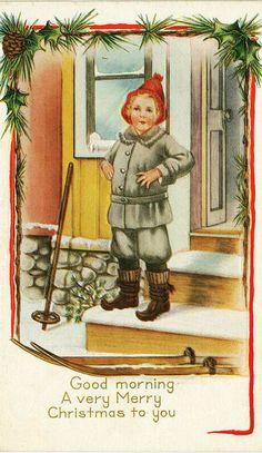 Antique Christmas postcard... Jenny Nyström ,illustrator