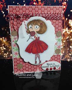Designed by Larissa Pittman of Muffins and Lace using Kraftin Kimmie Stamp Lola Lollipop