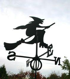Girouette grand motif sorcière. Et celle-ci, je l'ai, dans mon jardin, maman !