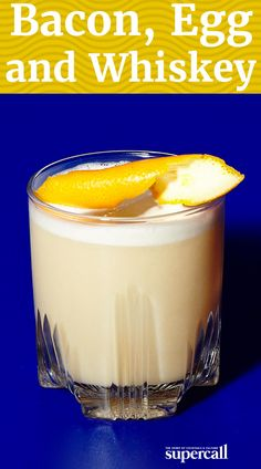 This variation on the Whiskey Sour uses frothy egg whites and a bacon-infused bourbon to give it a salty, savory depth.
