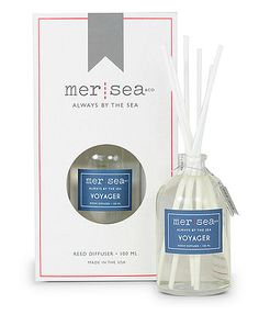 Mer-Sea & Co. Reed Diffusers Perfect for a place you don't want to burn a candle -  our diffuser is great for rooms big or small. The fragrance carries through six white felt reeds. Available in a variety of scents!