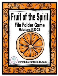 Fruit of the Spirit File Folder Game: Fruit of the Spirit can be enlarged for Teacher's visual or copied for students. The parts are included to make a file folder game also. #Biblefun