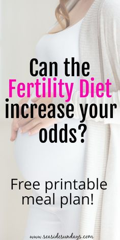 The Fertility diet that works! Fertility tips and foods to eat to get pregnant. If you have #PCOS or #infertility, this diet may help! #fertilitydiet #fertilitytips #infertility