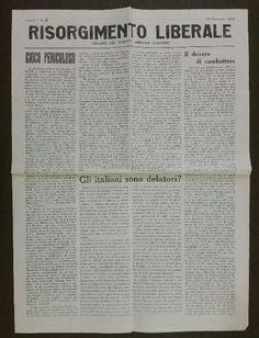 Risorgimento liberale - Organo del Partito Liberale Italiano - Anno I - N. 5 - 25 Novembre 1943