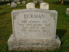 #GenealogicalGems: Tombstone Tuesday: J Martin Eckman & Family http://genealogybyjeanne.blogspot.com/2014/11/tombstone-tuesday-j-martin-eckman-family.html?spref=tw #genchat #genealogy @geneabloggers