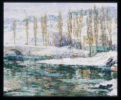 Ernest Lawson (American (born Canada), Halifax 1873–1939 Miami, Florida). Winter, 1914. The Metropolitan Museum of Art, New York. George A. Hearn Fund, 1915 (15.44)