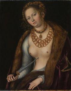 """Lucas Cranach, """"Lucretia"""", vers 1510-1513,"""