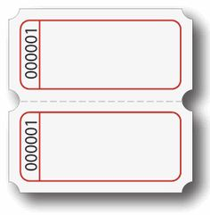 Ticket Template Party Tickets Movie Raffle Printable