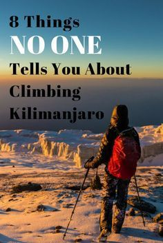 Here are 8 tidbits of info you'll want to know before climbing Mount Kilimanjaro in Tanzania. Like the term for all the extra farting you'll do.. #kilimanjaro #tanzania #adventuretravel