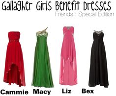 """Gallagher Girls Benefit Dresses : friends SPECIAL"" by missherjh on Polyvore"