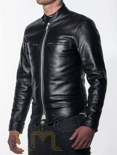 Leather Cafe Racer Biker Jacket: Icon by Leather Monkeys image three