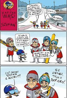 Zbiór memów o tematyce skoków narciarskich. Codzienne jeden nowy mem.… #losowo # Losowo # amreading # books # wattpad Ski Jumping, Jumpers, Poland, Skiing, Wattpad, Comic Books, Comics, Funny, Sports