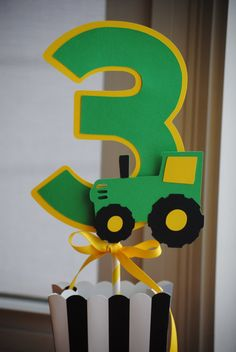NEW  Tractor Centerpiece with Age Choice of Colors and por mlf465