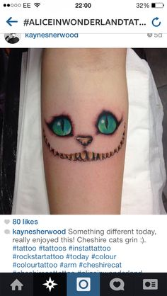 Alice in Wonderland tattoo sleeve ideas :) - Cheshire cat