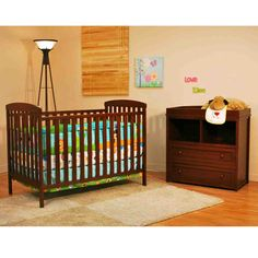 The Leila Nursery Set with Classic Crib and Changer in Espresso by is the perfect beginning of a charming, picturesque baby room. This baby furniture set pa. Nursery Furniture Collections, Nursery Furniture Sets, Toddler Furniture, Baby Furniture, Crib With Changing Table, Changing Table Dresser, Furniture Gliders, Wood Crib, Baby Dresser