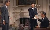 North by Northwest. Another Hitchcock great. This scene was actually filmed at a mansion, Old Westbury Gardens, not far from where I grew up.