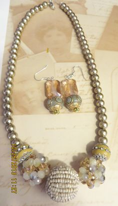 Jesse James Beads and Pearl beads on wire string