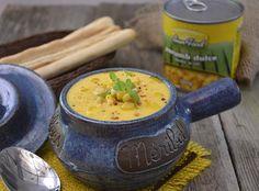 supa crema de porumb Cheeseburger Chowder, Thai Red Curry, Supe, Ethnic Recipes, Food, Beauty, Chef Recipes, Cooking, Essen