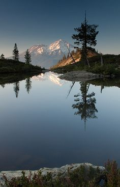 Hart Lake with Awesome Reflection - Shasta, California