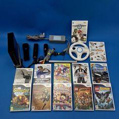 Nintendo Wii Console Bundle 12 Games Mario Kart Steering Wheel Lego Batman Sonic Mario Kart, Sonic Videos, Lego Batman, Video Game Console, Nintendo Wii, Video Games, Ebay, Videogames, Video Game