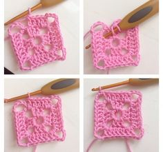 Endnu en firkant-opskrift – IbenErica.dk Crochet Squares, Diy And Crafts, Crochet Necklace, Baby Shoes, Projects To Try, Homemade, Creative, Jewelry, Crochet Carpet