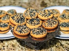 Tahini Shortbread Cookies with Salted Honey Ganache thanks to @theboywhobakes #sesameobsession