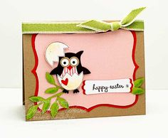 Owl Easter Card