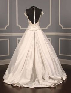 New, 100% Authentic Reem Acra Fairytale 4828 wedding dress at up to 90% off retail at Your Dream Dress. The beadwork & embroidery detail on this gown is amazing!