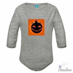 Halloween Castle Planet Organic Bodysuit for Babies - Long Sleeve / white / 6 Months