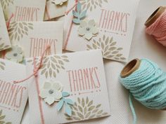 very soft colors, love this !! Thanks + SAB Petal parade in sahara sand ? very cute thank you cards