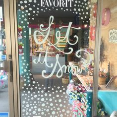 Window chalk markers, christmas, done!