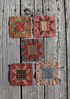 """Block 3  Cutting instructions are for one block.  cut one 3"""" square - center  cut four 2-1/8"""" squares cut once diagonally - Star Points   cut four 1-3/4"""" squares - corners  cut one 3-3/4"""" square cut diagonally twice Make four flying geese. Square block to 5 1/2"""""""