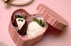 Wedding Style Guide Image Inspiration..gorgeous Favor boxes...with bride and groom chocolates.
