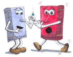 "Petit dessin ""humoristique""   #draw #dessin #drawing #illustration #sketch #marqueursalcool #alcoholmarkers #livres #humour"