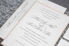 Gold Wedding Invitation Formal Wedding Traditional by LamaWorks